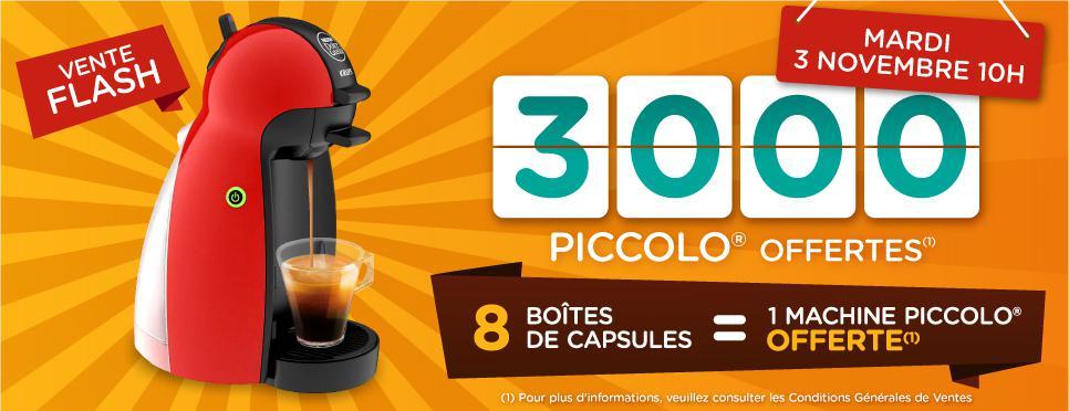 Une machine à café Piccolo offerte pour l'achat de 8 boite de capsule, soit le lot