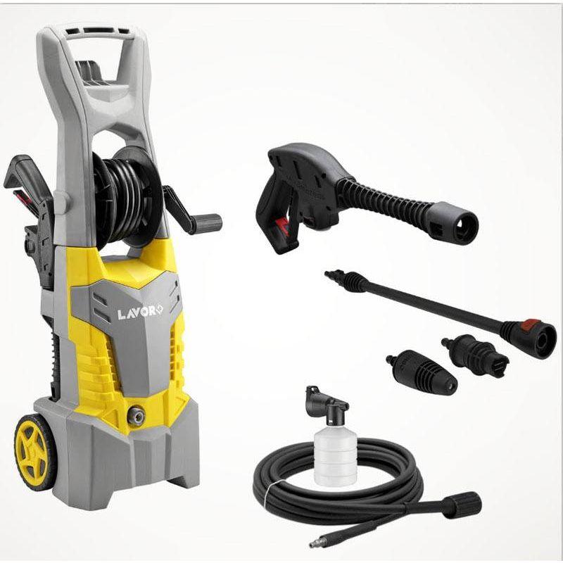 Nettoyeur haute pression Lavor Fast extra - 145 bars - Enrouleur - Embout turbo - Lance - Pistolet