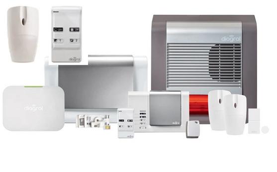 Système de sécurité Diagral Protect DIAG12CSF + détecteur de mouvements (compatible animaux) + télécommande
