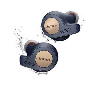 Écouteurs intra-auriculaire sans-fil Jabra Elite Active 65t - Bleu et or