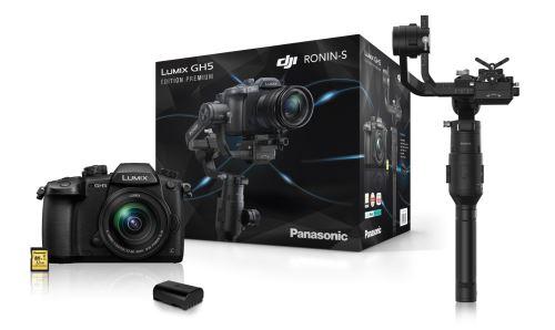 Appareil photo Panasonic Lumix GH5 + Objectif 12-60 f/3.5-5.6 + Carte SD 32 Go + Batterie sup. + Stabilisateur DJI Ronin S (Via ODR de 200€)