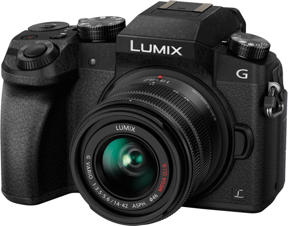 Appareil photo hybride Panasonic Lumix DMC-G7 (16 Mpix, Live MOS, noir) + objectif 14-42 mm OIS II (+ 18.5€ en SuperPoints)