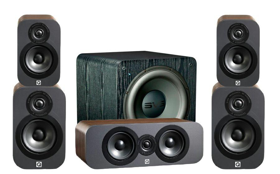 Pack Q-Acoustics 3020 Cinema Pack + Caisson SVS SB-2000