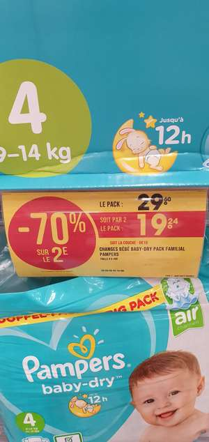 2 Paquets de 100 Couches Pampers Baby Dry - Massena (75)