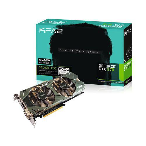 Carte graphique GeForce GTX 970 Kfa2  EXOC Black Edition