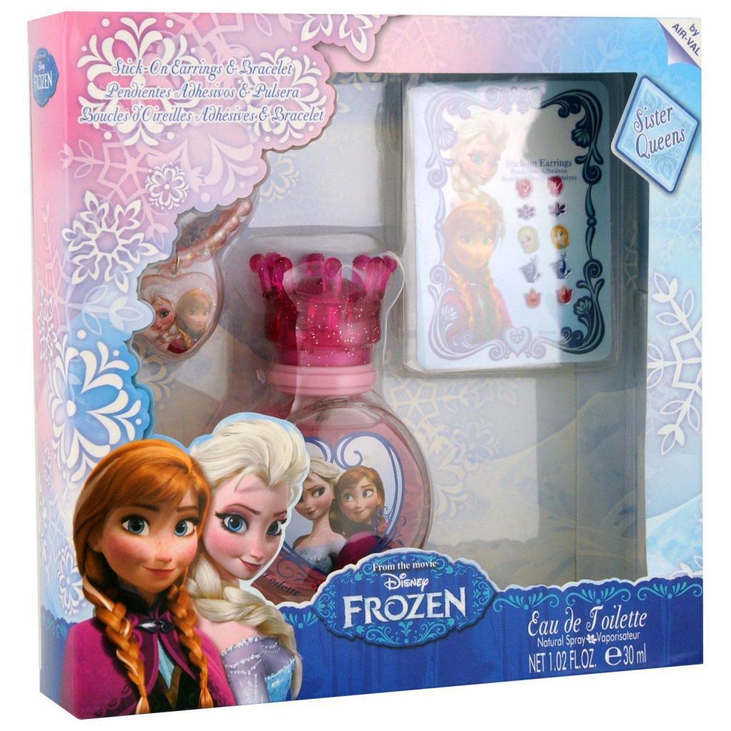 Coffret Disney Reine des Neiges: Eau de toilette 30 ml + Bracelet + Boucles d'oreilles autocollantes