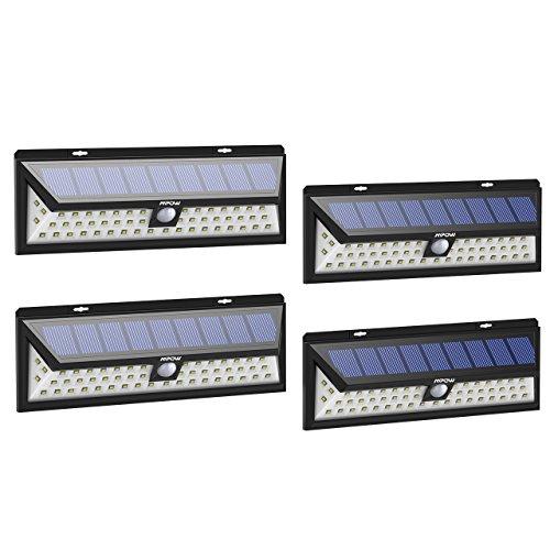 Lot de 4 Lampes solaires étanches Mpow - IP65, 54 LEDs, détection des mouvements (Vendeur tiers - Expédié par Amazon)
