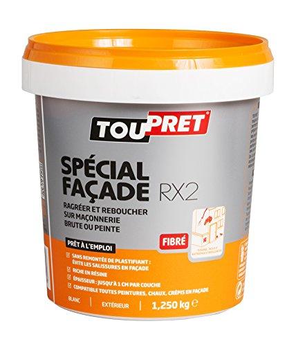 [Panier Plus] Pâte Enduit de Rebouchage Extérieur Toupret RX2 251080 Spécial Façade - 1,25 kg