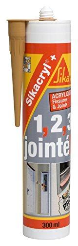 [Panier Plus] Mastic Acrylique Sikacryl+ Spécial Fissures pour Finitions et Joints en Intérieur & Extérieur (Chêne) - 300ml