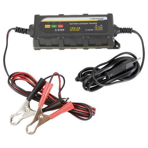 Chargeur de batterie intelligent Dunlop 6/12V pour véhicule