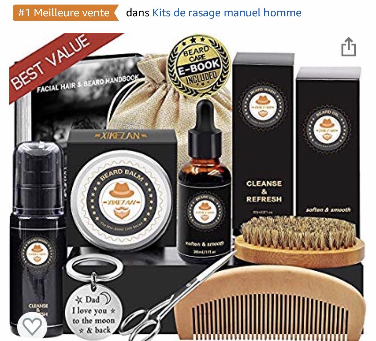 Kit pour barbe complet - 8 accessoires (Vendeur tiers - Expédié par Amazon)