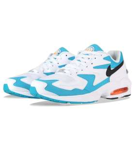 Baskets Nike Air Max 2 Blanc Clair / Bleu Lagon