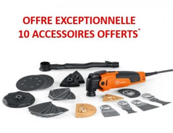 Oscillateur Multimaster Top 350 SQL Fein + 10 accessoires au choix offerts (Via formulaire) - quincaillerie-gilbert.fr