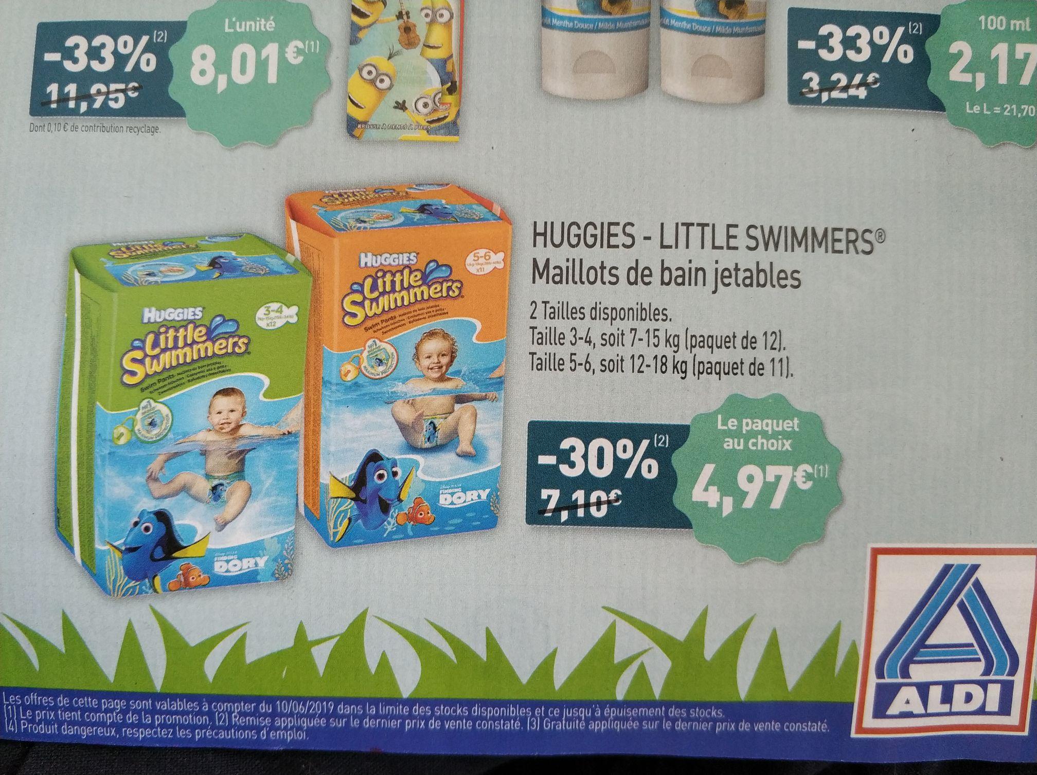 Pack de 11 ou 12 Maillots de bain couches jetables - Huggies Little Swimmers