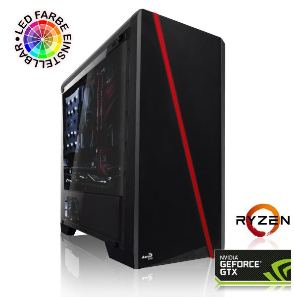 PC de Bureau Fire - Ryzen 5-2600, RTX 2070 (8Go), 16Go RAM (2666 MHz), 1To HD + 240Go SSD, Alim. corsair 550W