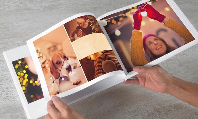 Un livre photo Albelli avec couverture personnalisable A4 paysage