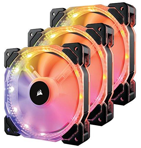 Pack de 3 ventilateurs pour boitier PC PWM Corsair HD120 RGB LED - 120mm
