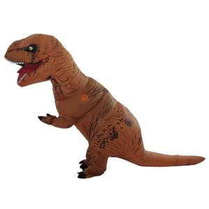 Costume de Dinosaure Gonflable Orange pour Adultes