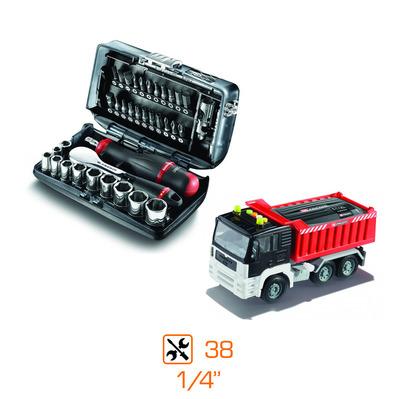 """Coffret de douilles 1/4"""" Facom - 38 pièces + camion jouet"""