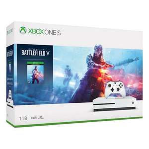 Pack console Microsoft Xbox One S 1 To (1 manette) + Battlefield V Deluxe Edition + Gears of War - blanc