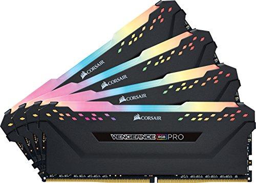 Kit mémoire Ram DDR4 Corsair Vengeance RGB PRO 32 Go (4x8 Go) - 3200MHz, C16, XMP 2.0