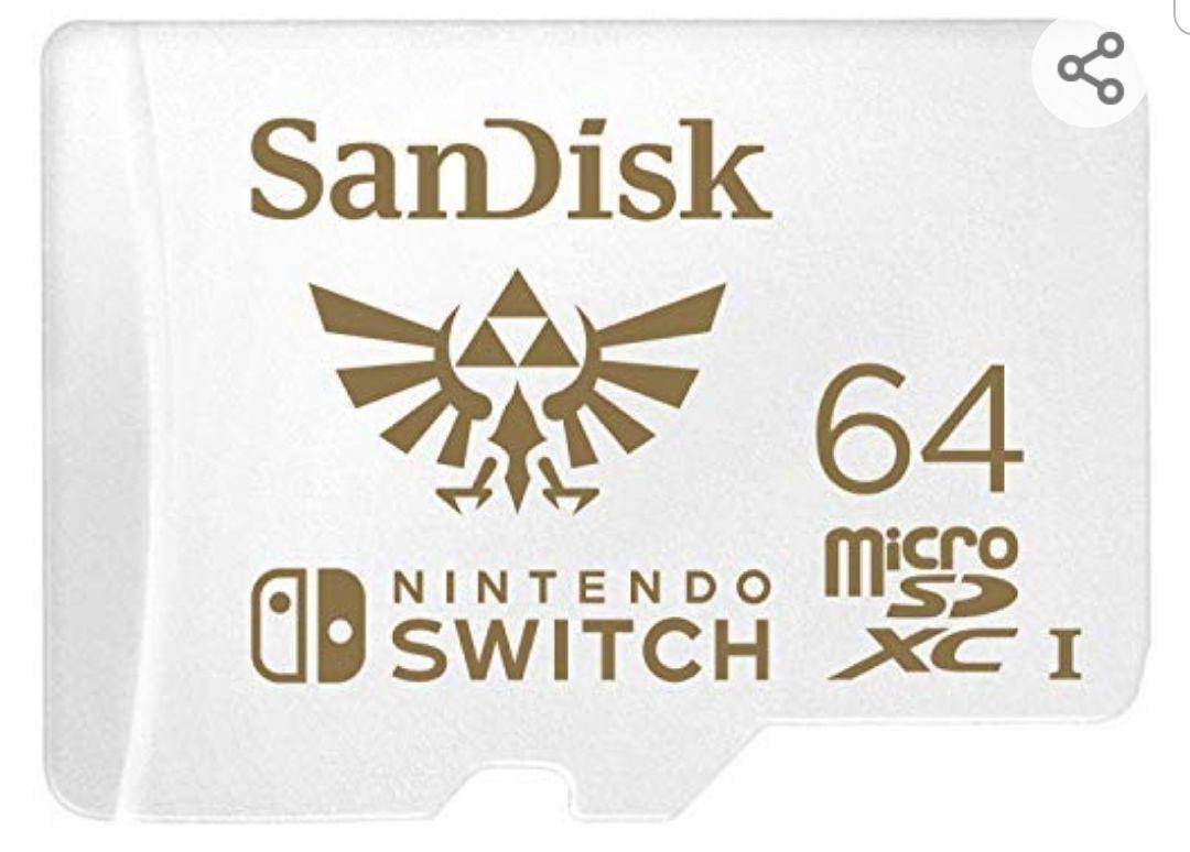 Carte microSDXC SanDisk Nintendo Switch - 64 Go