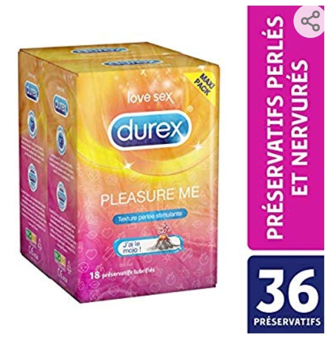 [Abonnement Economisez en vous abonnant] Boîte de 36 Préservatifs Durex Pleasure Me Perlés Nervurés (Via Coupon)