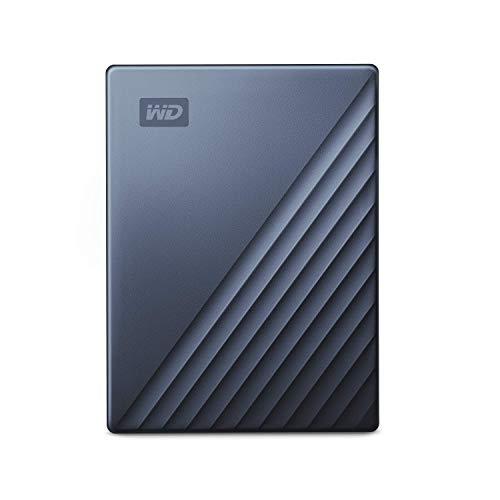 WD My Passport Ultra Disque dur externe portable USB-C, Bleu, 4 To