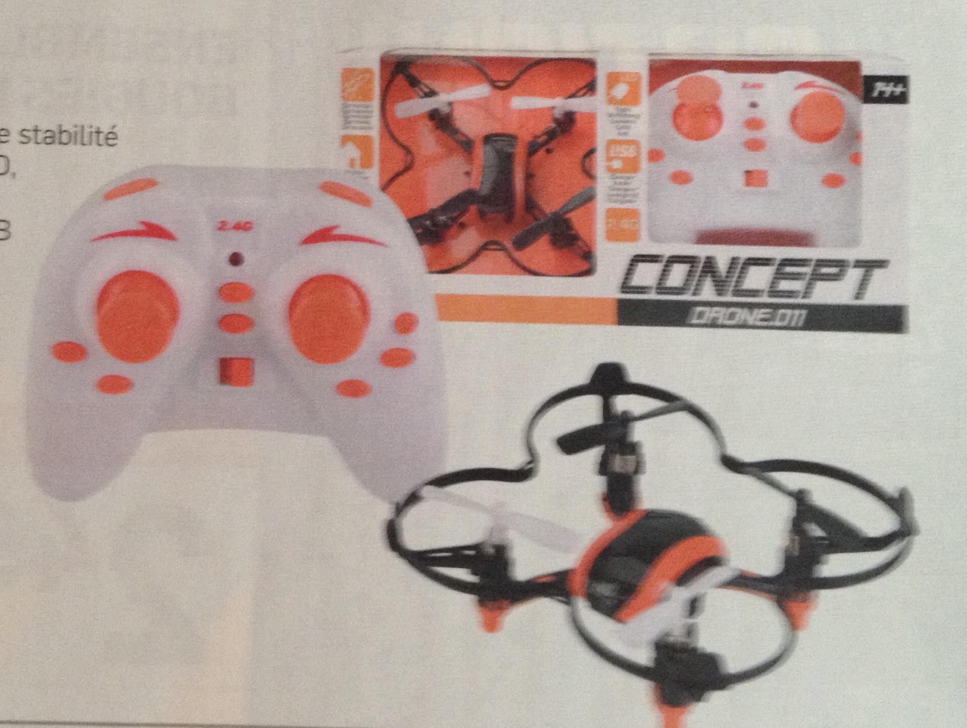 Mini quadcopter Concept Drone - 4.5 canaux, 2.4Ghz, 9x9cm