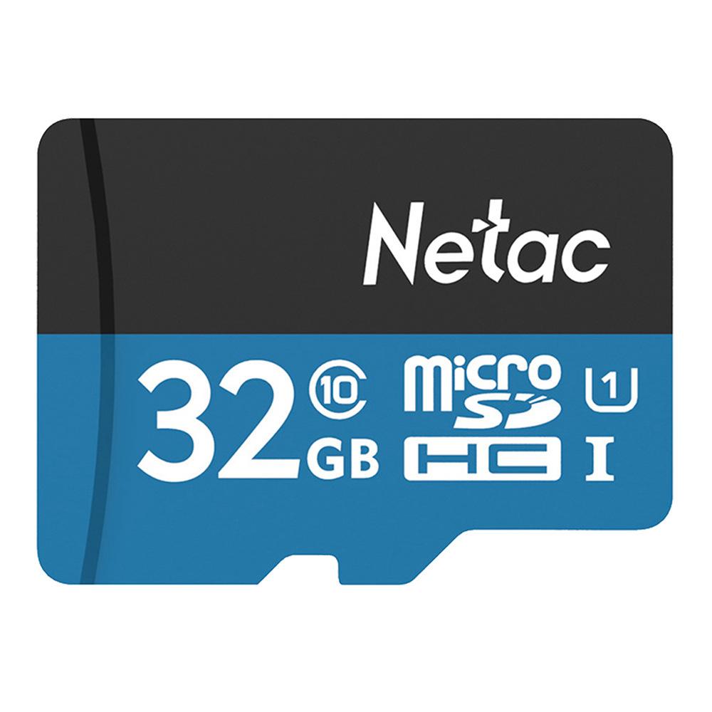 Carte microSDHC Netac P500 U1 classe 10 - 32 Go