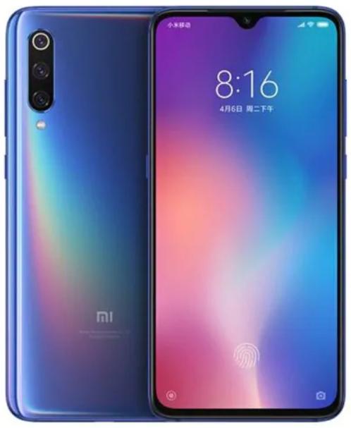 """Smartphone 6.39"""" Xiaomi Mi 9 - full HD+, SnapDragon 855, 6 Go de RAM, 128 Go, 4G (B20/B28), bleu"""