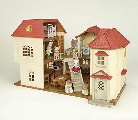 Maison de poupée Sylvanian Family avec lampes - 38x35x36cm