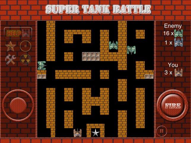 Sélection d'application gratuite sur iOS ou iPad - Ex : Super Tank Battle