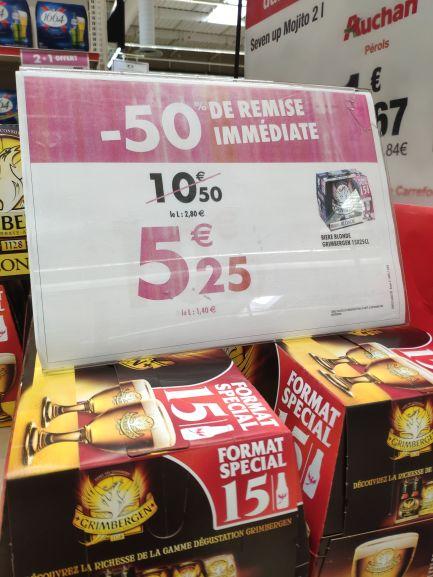 Pack de 15 bières blonde Grimbergen - 25cl - Lattes (34)