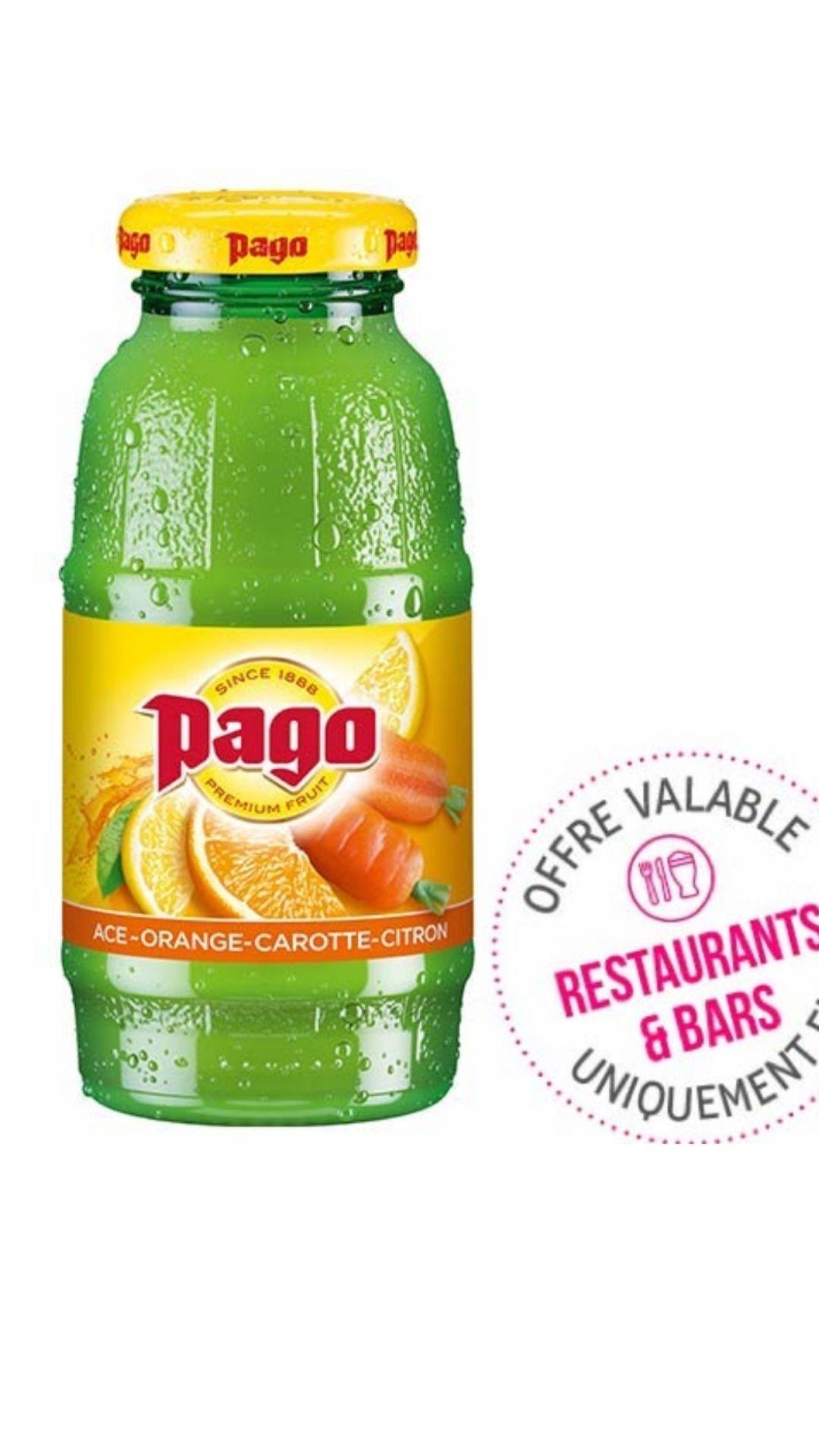 Jus Pago - 20cl (100% remboursé via Shopmium) - valable uniquement en bar ou restaurant