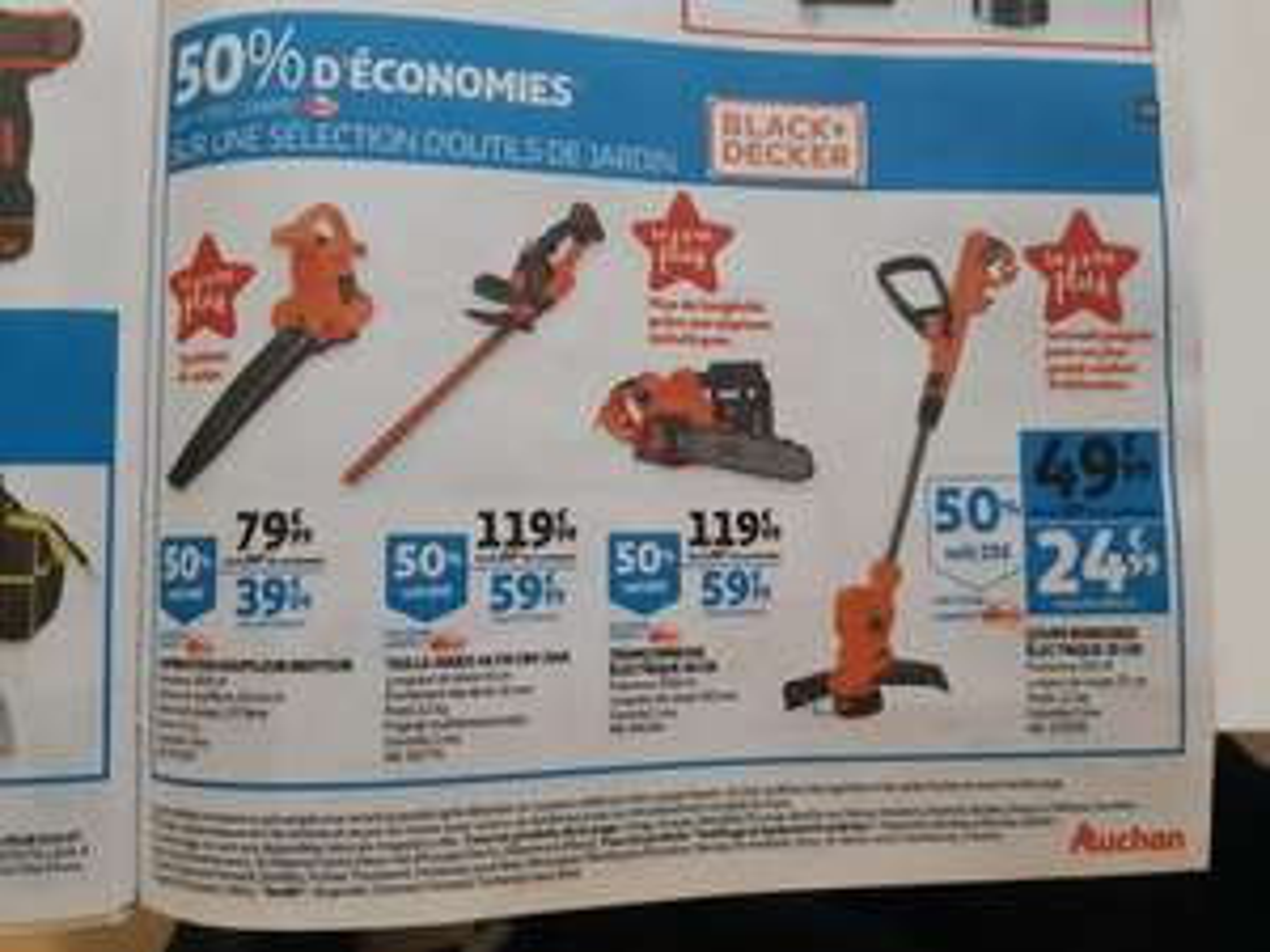 50% offerts en cagnotte fidélité sur une sélection d'outils Black et Decker