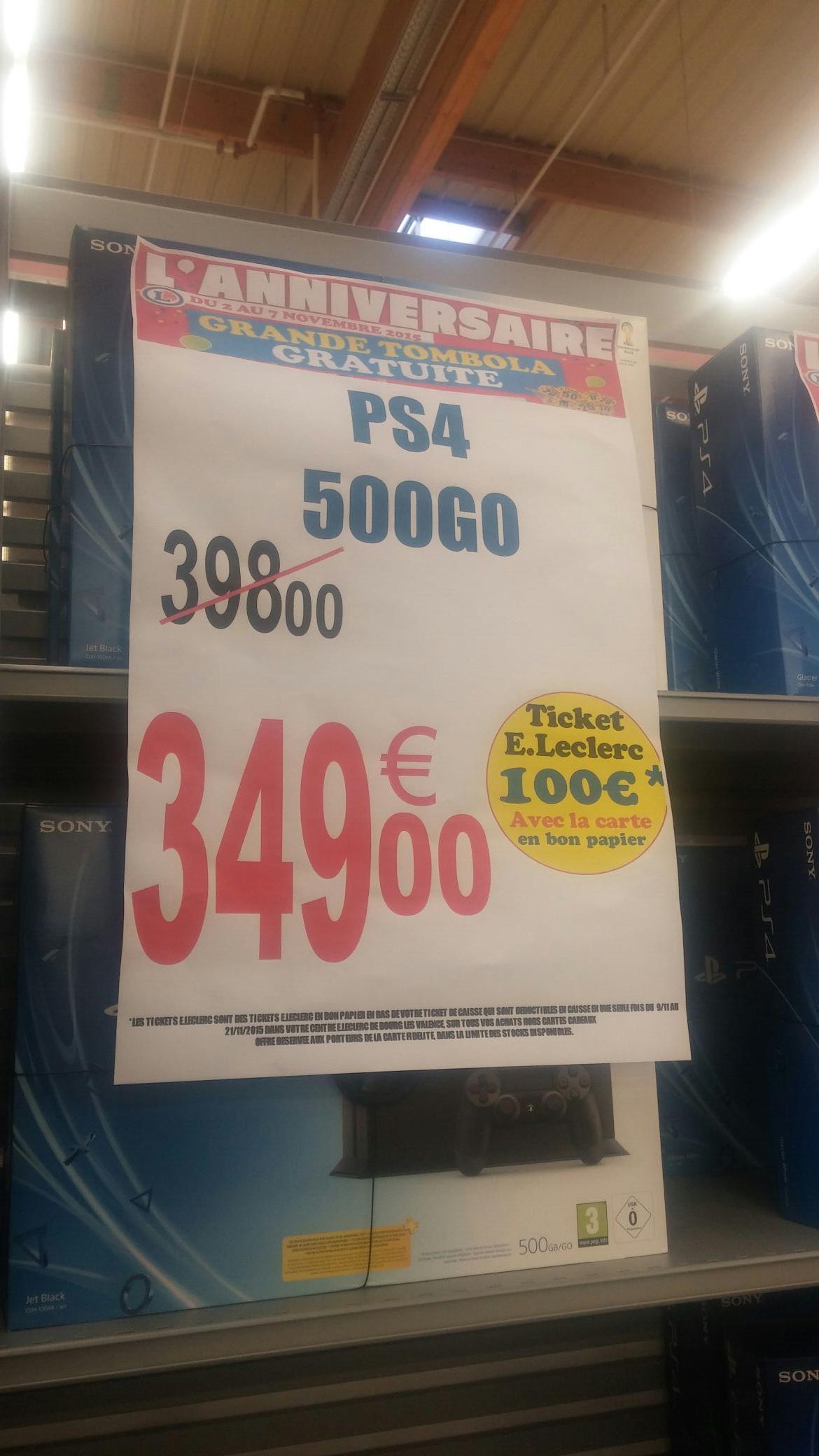 Console Sony Playstation 4 - 500 Go Blanche ou Noire (100€ sur la carte)