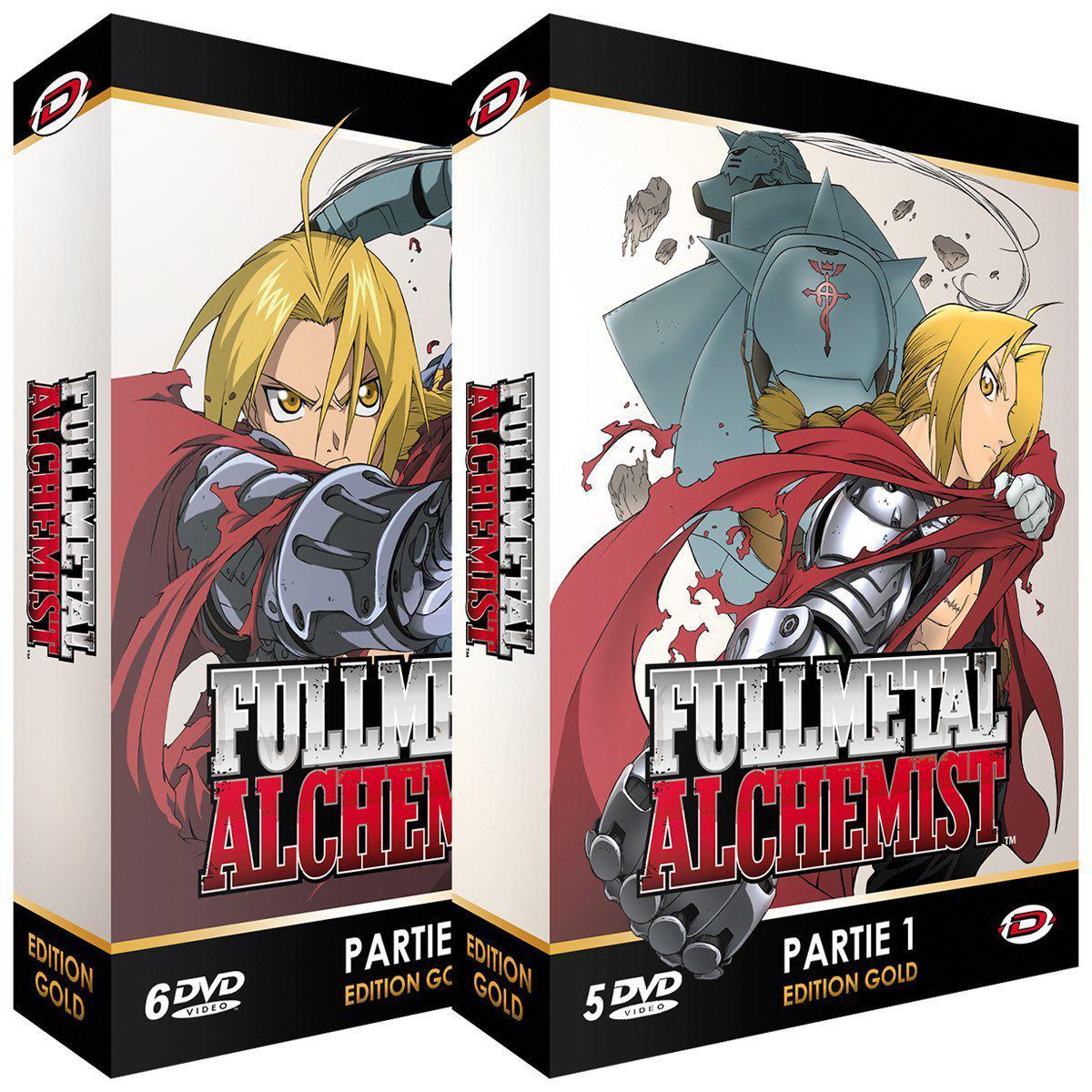 Coffrets DVD Fullmetal Alchemist - Intégrale Edition Gold (11 DVD + Livrets)