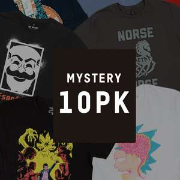 Lot de 10 T-Shirts Geek Mystère + Zbox offerte