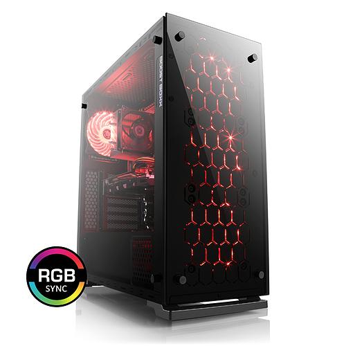 PC Fixe CSL Sprint 5843 - Ryzen 2600X, 16 Go RAM, RTX 2070, SSD NVMe 500 Go, Alimentation 500W - 80+ Gold + 2 jeux