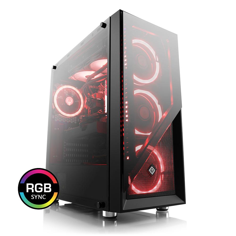 PC Fixe CSL Sprint 5951 - Ryzen 2700X, 16 Go RAM 3200MHz, RTX 2080ti, SSD NVMe Evo Plus 500 Go, Alimentation 600W - 80+ Gold + 2 jeux