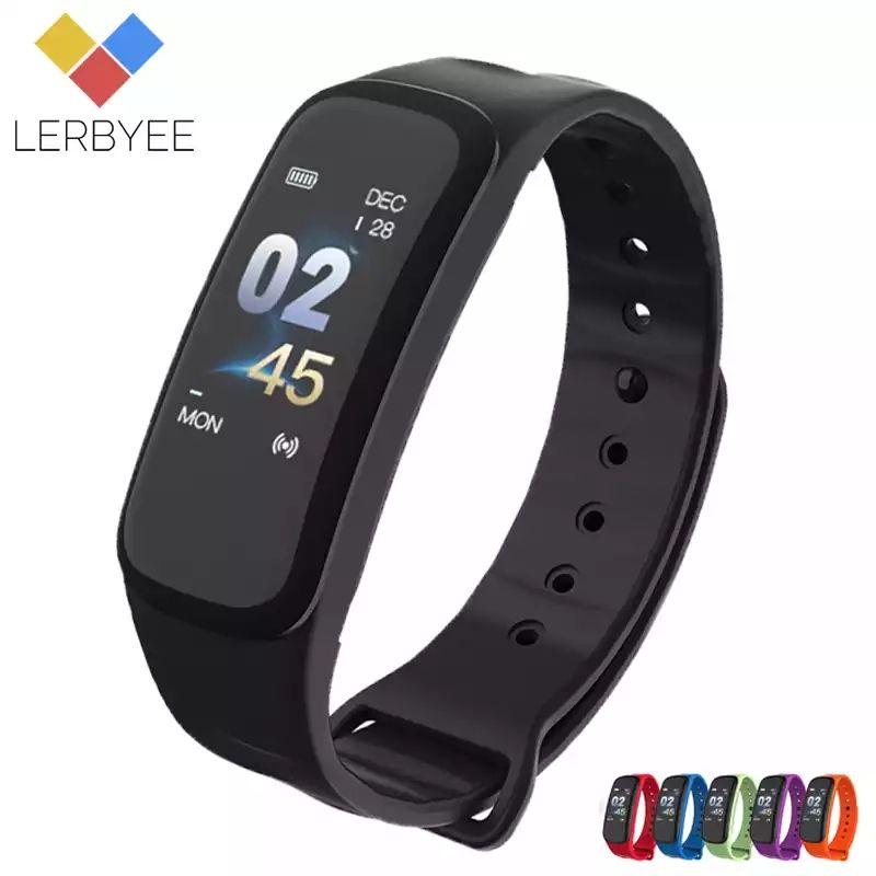 Bracelet intelligent Lerbyee C1Plus - Noir