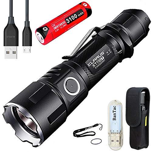 Lampe de poche Klarus XT11GT - LED Cree XHP35, 2000 lumens, 3100 mAh, rechargeable via USB (vendeur tiers)