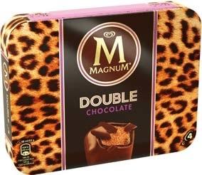 Batonnets Glacés Magnum Double Chocolat - 2 x 4