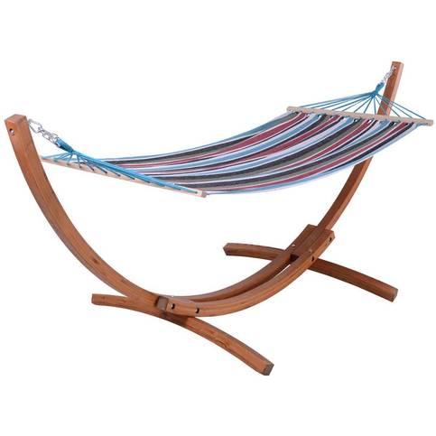 Hamac en bois Relax  Dallas - 3M, Bleu mélange