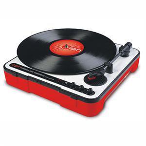 Platine vinyle ION mobile LP rouge USB portable