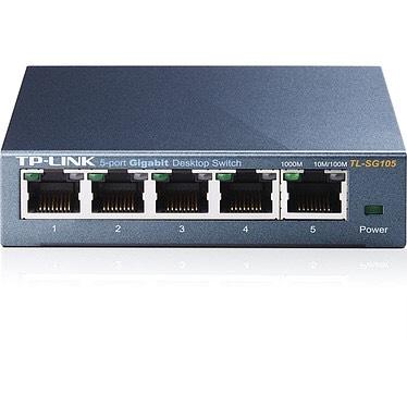 Switch Ethernet Gigabit  TP-Link SG105  - 5 ports metallique, 10/100/1000 Mbps