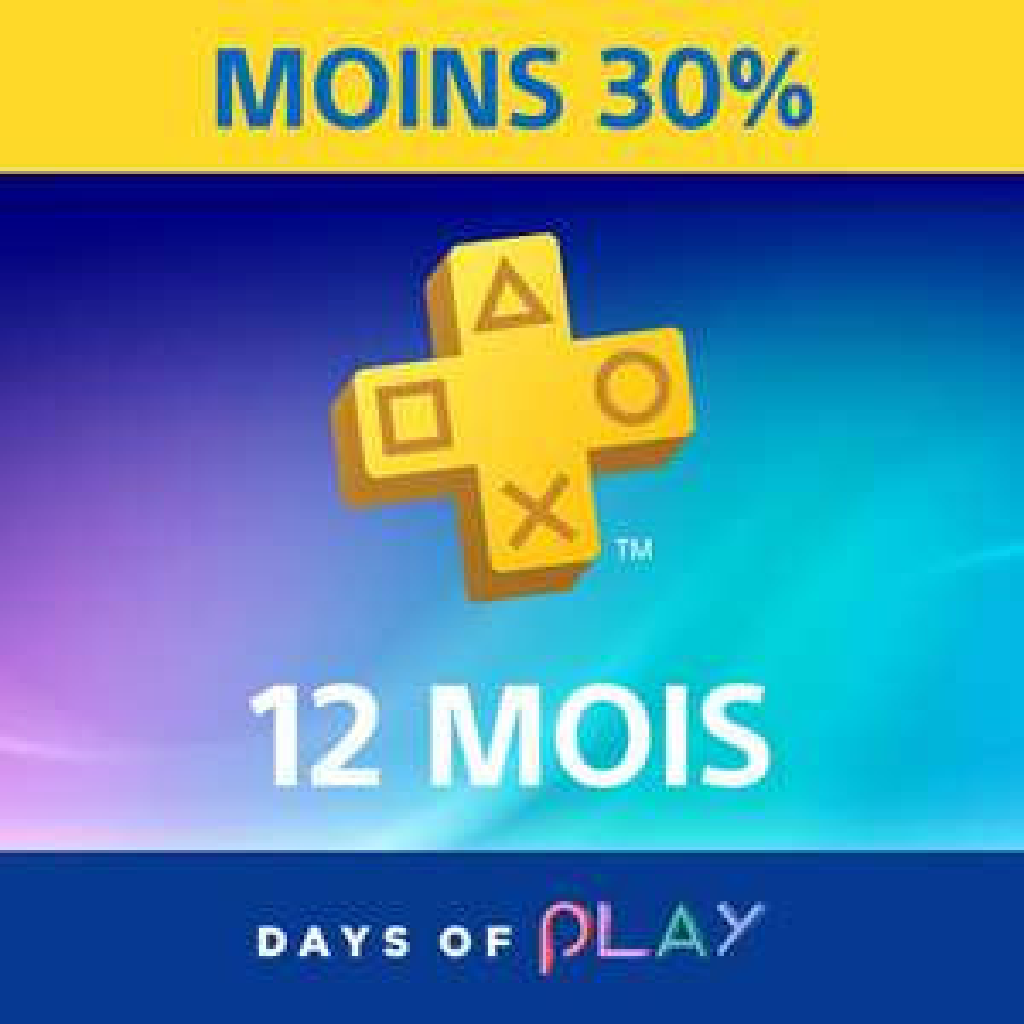 Sélection de Contenus & Jeux en Promotion sur PS4 (Dématérialisés) - Ex: Abonnement Playstation Plus 1 An