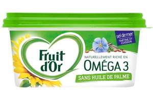 3 Margarine Fruit d'Or sans huile de palme (via ODR FIDALL)