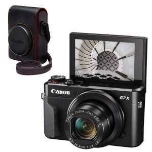 Appareil photo Compact Canon PowerShot G7X Mark II + Housse en cuir + SD 8 Go (camara.net)